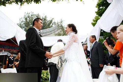刘烨与太太的婚礼