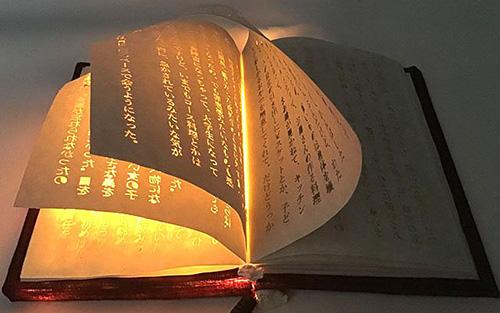 大学生创作神奇书本:字母能自行发光且越来越亮